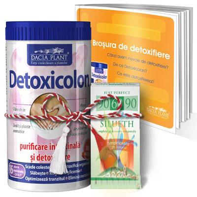 Produse naturiste DACIA PLANT - DETOXICOLON 480g + (gratis SILUETH 60cpr si BROSURA) DACIA PLANT