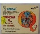 Produse naturiste Hofigal - COENZIMA Q10 IN ULEI CATINA 15mg 40cps(moi) HOFIGAL