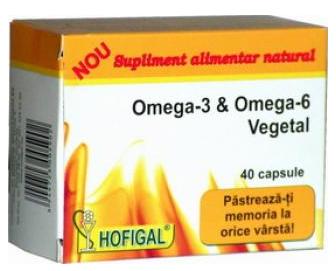 Produse naturiste Hofigal - OMEGA-3 SI OMEGA-6 VEGETAL 40cps HOFIGAL